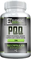 PQQ (150 ct x 20 mg) PYRROLOQUINOLINE QUINONE  by Element Nutraceuticals