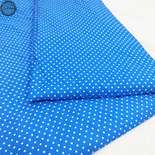 Floral Spotted Polka Dots Print Fabric Sewing Quilting Bag Clothing Upholstery 2mm Dots-dark Blue by The Meter (100cm X 150cm)