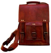 "15"" Men's Curo Leather Vintage Laptop Messenger Handmade Briefcase Bag Satchel"