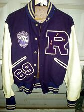 Rincon vintage 1969 Letterman school jacket, Butwin brand, genuine, pins