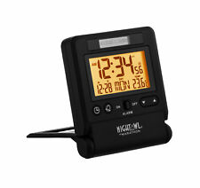 Marathon CL030036BK Atomic Travel Alarm Clock Black