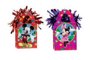 2 x HELIUM BALLOON WEIGHT BIRTHDAY PARTY WEDDING BABY SHOWER MICKEY MINNIE MOUSE