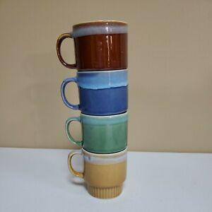 Retro Vintage Set of Stacking Drip Coffee Mugs Mid Century - China