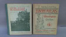 2 antichi libri per la scuola scuola vintage insegnante atlante geografia