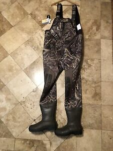 Red Head Bone Dry Waders Mens sz 12 Camouflage Boots Chest High Camo Mossy Oak