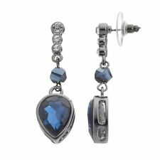 NEW! Simply VERA WANG Crystal & Midnight Blue Arrow Drop Earrings FREE SHIPPING!