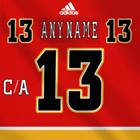Calgary Flames NHL Adidas Dark Jersey Any Name Any Number Pro Lettering Kit