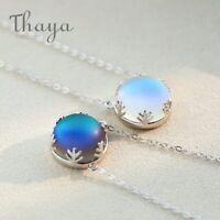 Aurora Borealis Necklace S925 Crystal Gemstone Elegant Fashion Jewelry Ladies