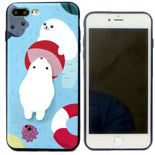 Custodia TPU flessibile FOCA 3D SQUISHY anti stress per Apple iPhone 7 Plus 5.5""