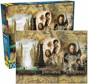 1000 piece LORD OF THE RINGS - TRIPTYCH Licensed Jigsaw Puzzle MOVIE TRILOGY