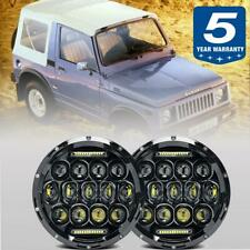 "For Suzuki Samurai SJ410 7"" CREE LED Headlights Pair DRL Hi/Lo Sealded Beam DOT"