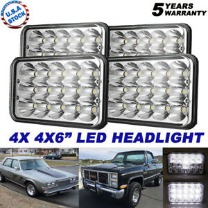 """4X DOT Approved 4x6"""" 45W LED Headlights DRL for Peterbilt Kenworth Freightliner"""