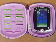 Purple LeapFrog LeapPad2 Tablet With Stylus, silicone case and 5 Games - Tested