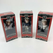 Tiger Woods 2002 Upper Deck Full Set Of Three Bobble Heads New In Box
