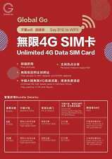 Travel Sim card to China, Hong Kong and Macao 9 days with unlimited data