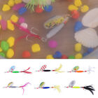 Lot 6pcs Mixed Colors Spoon Fishing Lures Set Spinner Baits Bass Tackle Hooks