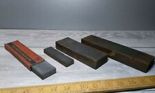 4 vintage honing stones, sharpening stones, man made