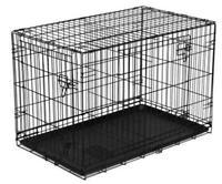 "Vibrant Life Folding Dog Crate, 36"" Double Door Kennel *READ DESCRIPTION*"