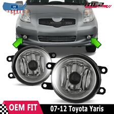 For Toyota Yaris 07-12 Factory Bumper Replacement Fit Fog Lights DOT Clear Lens