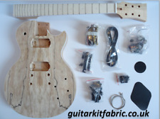 Chitarra elettrica fai da te KIT-LP DELUXE, in mogano con Spalted Maple Top