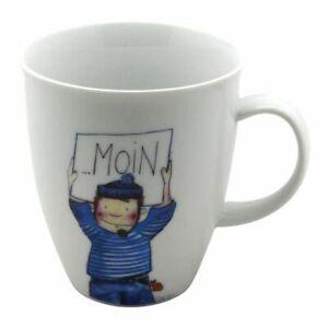 Cup und Mug Becher Nordisch Maritim Matrose Moin 400ml