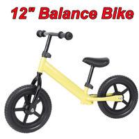 12'' Kids Balance Bike No-Pedal Learn To Ride Pre Training Balace Bicycle Wheels