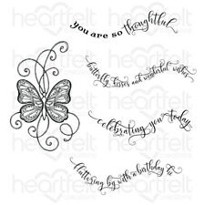 Heartfelt Creations Butterfly Kisses Cling Stamp Set HCPC-3825