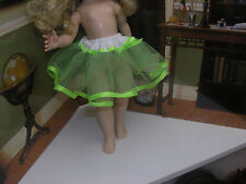 "Green Nylon Net Slip Petticoat Crinoline 14"" Doll clothes fits Ideal Toni P-90"