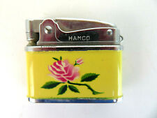 Vintage Automatic Super Lighter - Hamco Rose Design - Flower Made in Japan