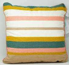 Martha Stewart Collection Butternut Stripe Cotton Decorative Pillow - Multicolor