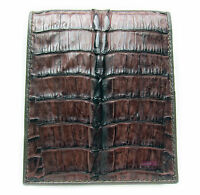 DARK BROWN CROCODILE ALLIGATOR TAIL SKIN LEATHER MEN'S CLASSIC WALLET NEW
