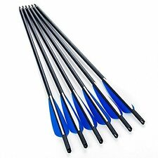 "6x 22"" Carbon Arrows Crossbow Bolt Archery Changeable Arrow Heads for Hunting"