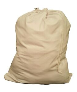 Owen Sewn WHITE HEAVY DUTY 30x40 CANVAS STYLE LAUNDRY BAG - MADE IN USA
