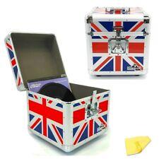 "Gorilla LP100 12"" LP Vinyl Record Box DJ Storage Carry Case Union Jack (Pair)"