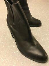 Women's Alexander Wang Black Leather Chelsea Heels Ankle Boots UK 2 EU 35 US 4