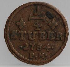 1784 Deutsches Reich 1/4 Stuber 1784 Julich Berg KM# 205
