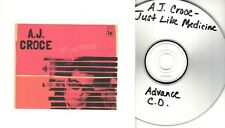 A J CROCE Just Like Medicine 2017 UK 10-trk promo test CD
