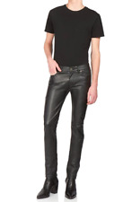 SAINT LAURENT Faux Leather Trousers pants polyurethane PU PVC vegan yves YSL