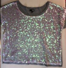 Women's a.n.a. A New Approach Sleeveless Gray Sweater with Sequins Size XL