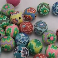19692 Mixed Color Round Fimo Beads Polymer Clay Beads Finding 10mm 40pcs
