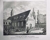 Club des Jacobins 1794 Rue Saint Honoré Paris Rare Gravure Révolution Française