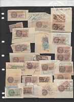 french revenue stamps on piece ref 16489