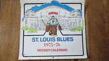 1975-76 ST. LOUIS BLUES NHL HOCKEY Large WALL CALENDAR Schedule VERY RARE!