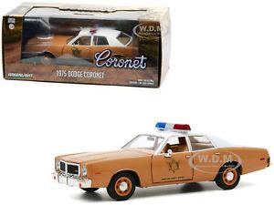 "1975 DODGE CORONET BROWN ""CHOCTAW COUNTY SHERIFF"" 1/24 DIECAST GREENLIGHT 84097"