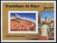 Space Raumfahrt 1977 Niger Viking Block 16 Epreuve Deluxe Cardboard MNH/1214