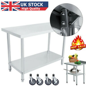 Stainless Steel Commercial Kitchen Work Bench Catering Table Food Prep Worktop .