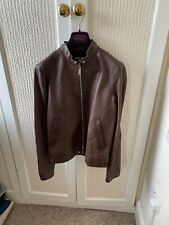 Men's Dsquared2 Leather Jacket New Size 48