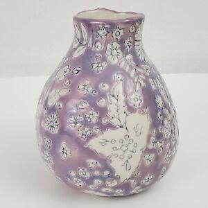 Dorotea ANTHROPOLOGIE Hand Painted Art Ceramics Pottery Vase, EUC