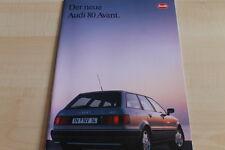 Audi 90 20V Prospekt 1988 6//88 Autoprospekt brochure broschyr brosjyre Katalog