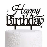 """Tortentopper """"Happy Birthday"""" Cake Topper Kuchenaufsatz Tortenstecker"""